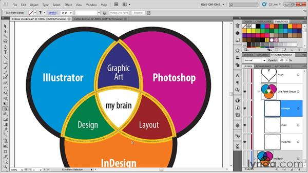 Using the Live Paint Selection tool: Illustrator CS5 One-on-One: Advanced
