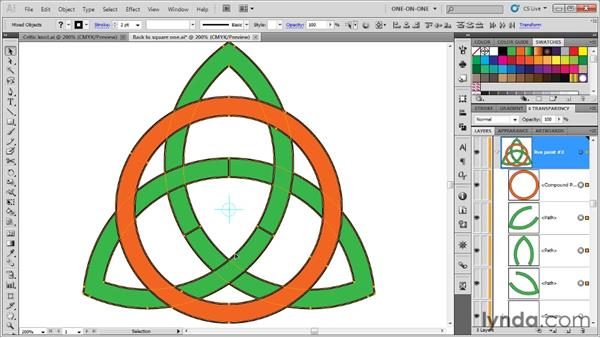 Creating a path that overlaps itself: Illustrator CS5 One-on-One: Advanced