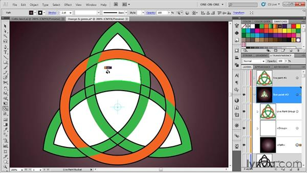 Painting a path that overlaps itself: Illustrator CS5 One-on-One: Advanced