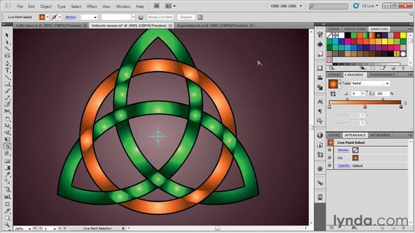Adding gradients and depth: Illustrator CS5 One-on-One: Advanced