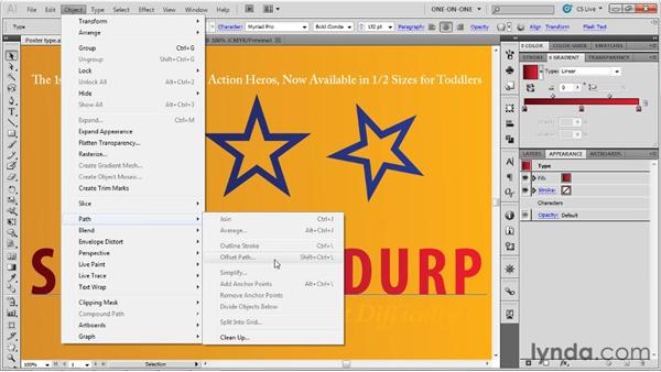 Applying a dynamic effect to type: Illustrator CS5 One-on-One: Advanced