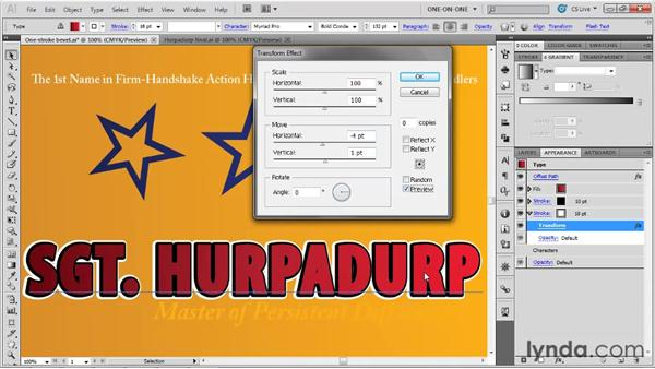 Building up a multi-stroke effect: Illustrator CS5 One-on-One: Advanced