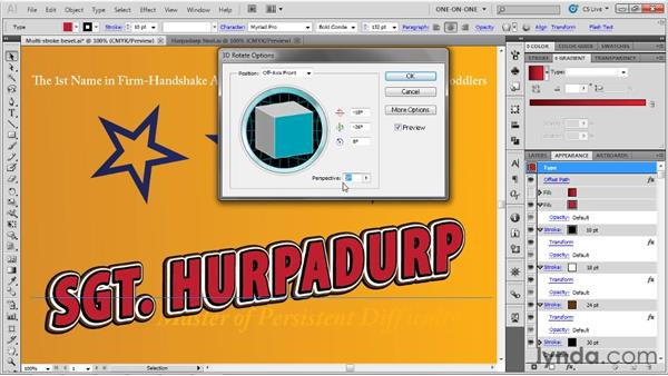 Best practices for 3D type: Illustrator CS5 One-on-One: Advanced