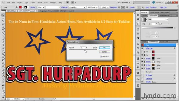 "Applying a ""path wiggler"" to type: Illustrator CS5 One-on-One: Advanced"