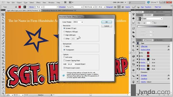 Drop shadows and Raster Effects settings: Illustrator CS5 One-on-One: Advanced