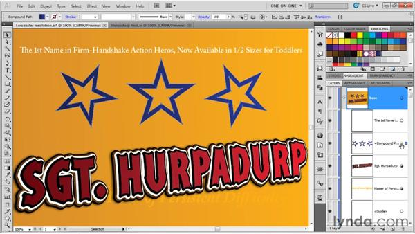 Duplicating attributes and effects: Illustrator CS5 One-on-One: Advanced