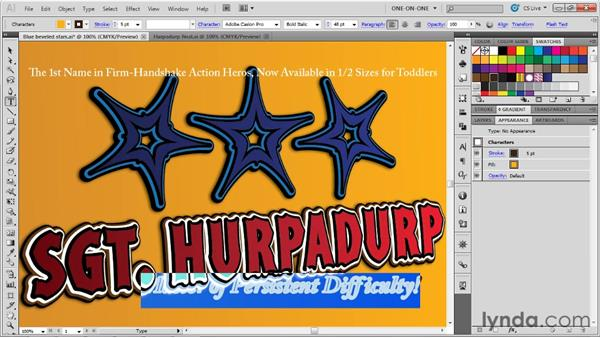 Editing type with dynamic effects: Illustrator CS5 One-on-One: Advanced