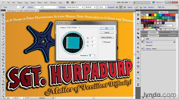 Warping text and increasing resolution: Illustrator CS5 One-on-One: Advanced