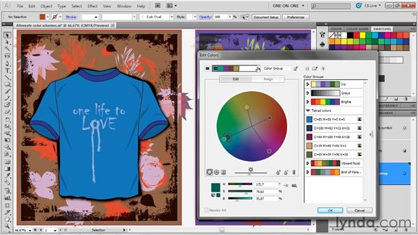 Harmony layouts and the Lab color wheel: Illustrator CS5 One-on-One: Advanced