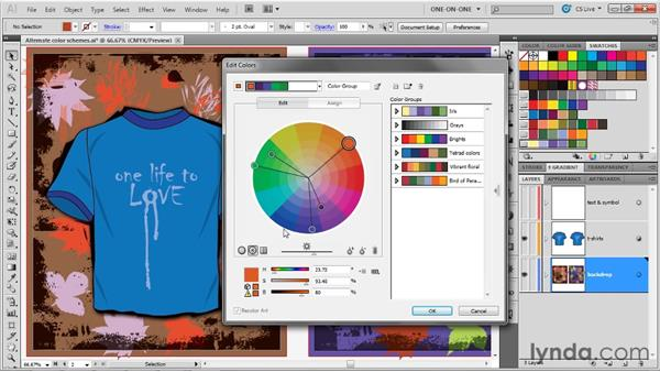 Working inside the Edit Color dialog box: Illustrator CS5 One-on-One: Advanced