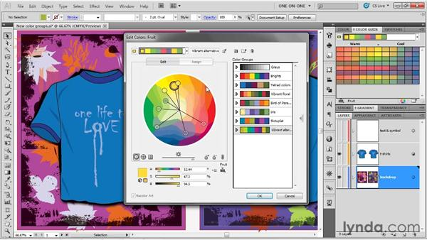 Limiting a color group to spot colors: Illustrator CS5 One-on-One: Advanced