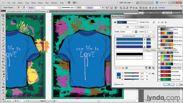 Moving color groups between documents: Illustrator CS5 One-on-One: Advanced