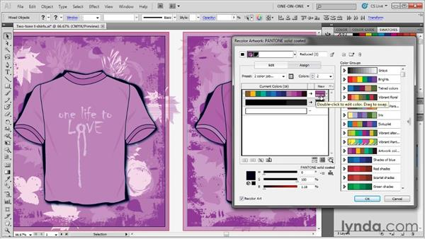 Distilling your artwork to one spot-color ink: Illustrator CS5 One-on-One: Advanced