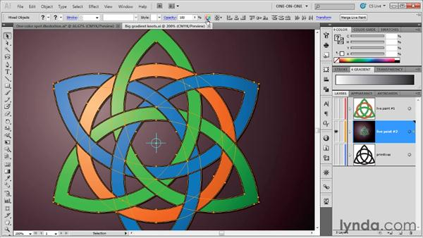 Recoloring artwork that contains gradients: Illustrator CS5 One-on-One: Advanced