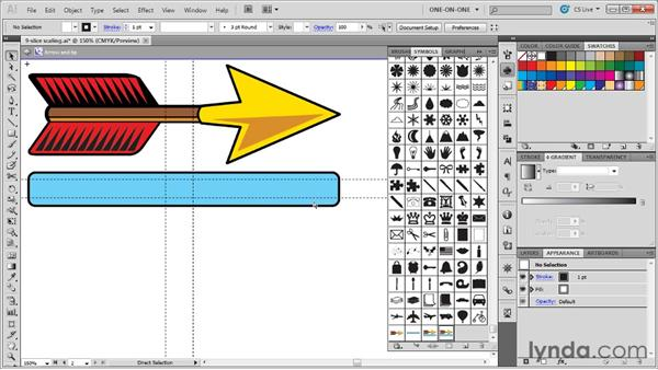 Adjusting your 9-slice scaling guides: Illustrator CS5 One-on-One: Advanced