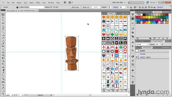 Finding a symbol and creating an instance: Illustrator CS5 One-on-One: Advanced