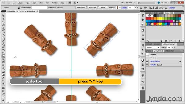 Duplicating and replacing instances: Illustrator CS5 One-on-One: Advanced