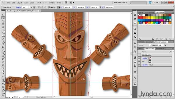 Distorting and expanding a symbol: Illustrator CS5 One-on-One: Advanced