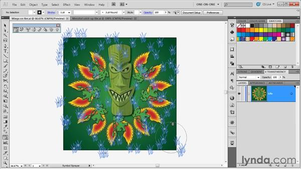 Laying down a random symbol set: Illustrator CS5 One-on-One: Advanced
