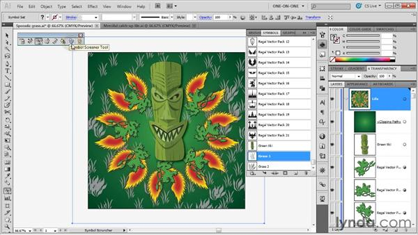 The eight symbolism tools: Illustrator CS5 One-on-One: Advanced