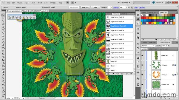 Editing selected instances: Illustrator CS5 One-on-One: Advanced