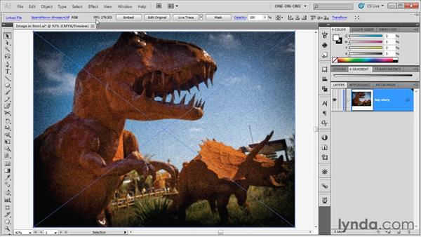 Working with linked images: Illustrator CS5 One-on-One: Advanced