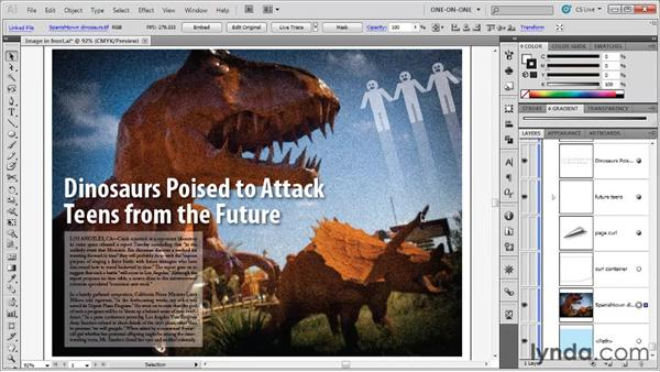Stroking and blending an image: Illustrator CS5 One-on-One: Advanced