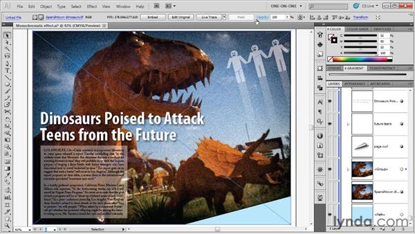 Adding a clipping mask and page curl: Illustrator CS5 One-on-One: Advanced