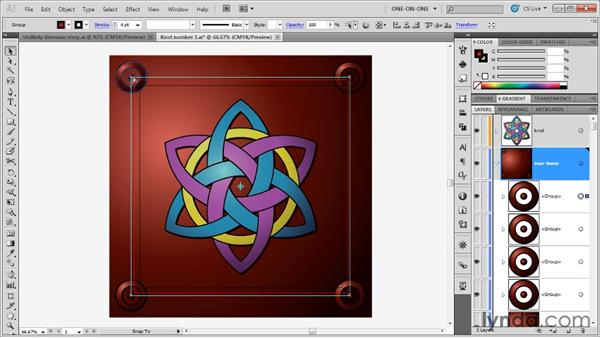 Creating a blended border effect: Illustrator CS5 One-on-One: Advanced