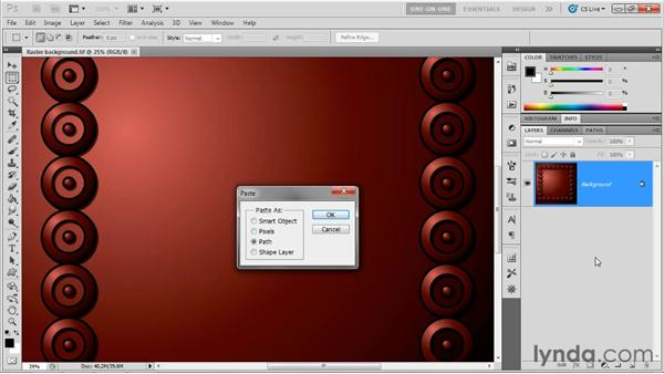 Copying and pasting into Photoshop: Illustrator CS5 One-on-One: Advanced