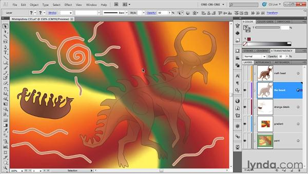 Opacity and blending modes: Illustrator CS5 One-on-One: Advanced