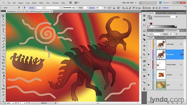 The Darken and Lighten modes: Illustrator CS5 One-on-One: Advanced