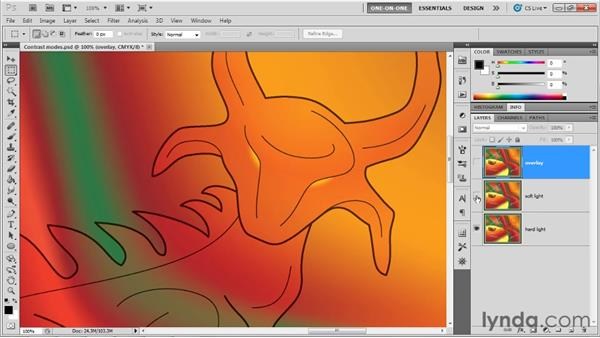 The Contrast, Inversion, and HSL modes: Illustrator CS5 One-on-One: Advanced