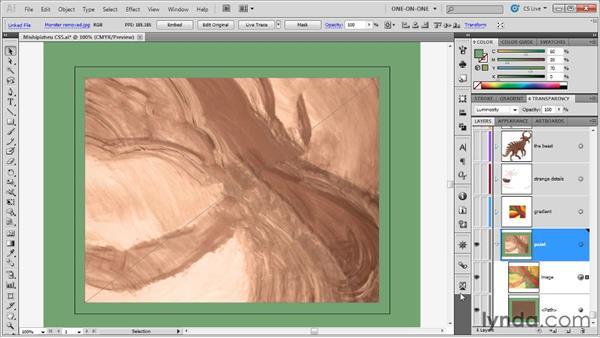 Blending modes in action: Illustrator CS5 One-on-One: Advanced