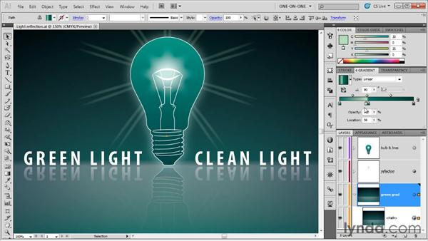 Introducing the opacity mask: Illustrator CS5 One-on-One: Advanced