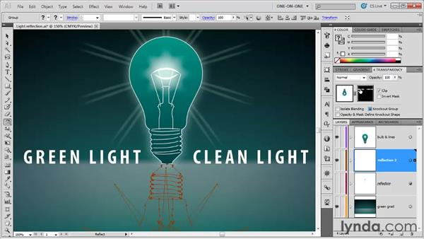 Making an opacity mask: Illustrator CS5 One-on-One: Advanced