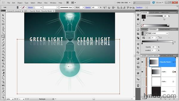 Creating a gradient opacity mask: Illustrator CS5 One-on-One: Advanced
