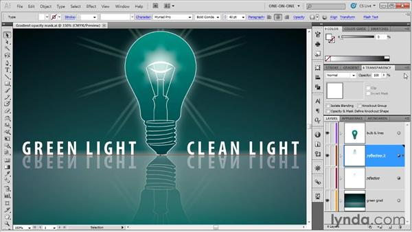 Adding an opacity mask to a single object: Illustrator CS5 One-on-One: Advanced