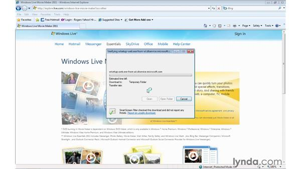 Installing Windows Live Movie Maker : Windows Live Movie Maker Essential Training
