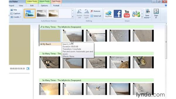 Touring the Movie Maker interface: Windows Live Movie Maker Essential Training