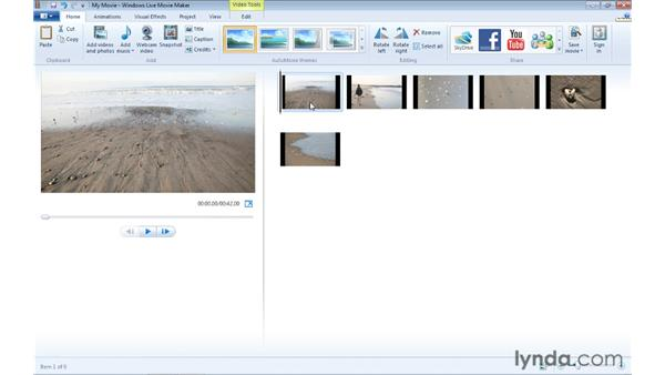 Starting and saving a new project: Windows Live Movie Maker Essential Training