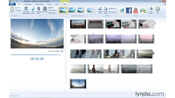 Adding and organizing video and pictures: Windows Live Movie Maker Essential Training