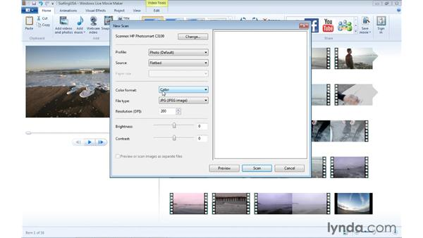 Importing content from other devices: Windows Live Movie Maker Essential Training