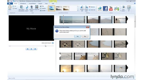 Creating an AutoMovie: Windows Live Movie Maker Essential Training