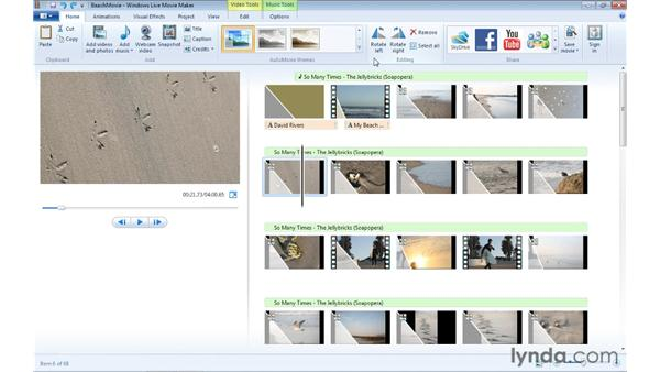 Adjusting photo duration and rotation: Windows Live Movie Maker Essential Training