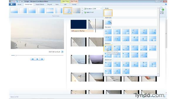 Panning and zooming photos: Windows Live Movie Maker Essential Training