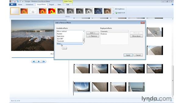 Adding multiple effects to a single clip: Windows Live Movie Maker Essential Training