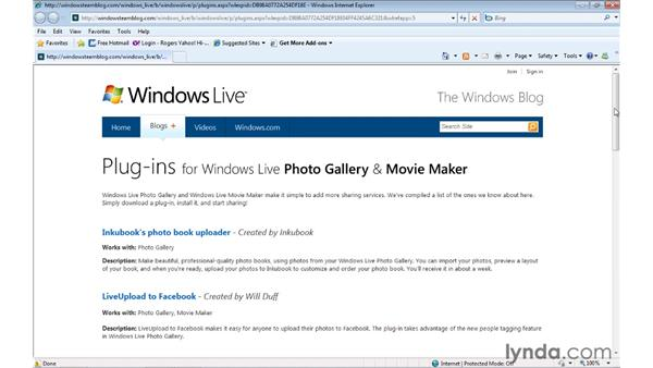 Publishing a movie to other web locations: Windows Live Movie Maker Essential Training