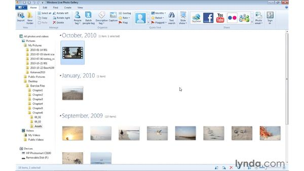 Making a movie from Windows Live Photo Gallery: Windows Live Movie Maker Essential Training