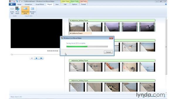 Adding additional audio tracks: Windows Live Movie Maker Essential Training